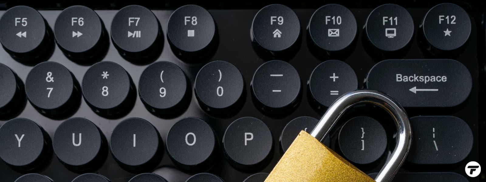 Blog Keyboard Padlock